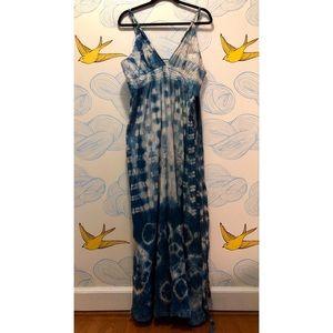Shibori Dyed Gap Maxi Dress